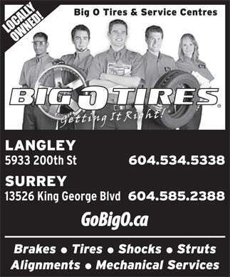 Big O Tires (604-534-5338) - Display Ad