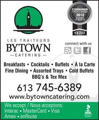 Bytown Catering (613-317-1758) - Display Ad
