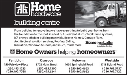 Home Hardware Building Centre (250-493-1233) - Annonce illustrée