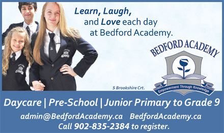 Bedford Academy (902-835-2384) - Display Ad - 902-835-2384