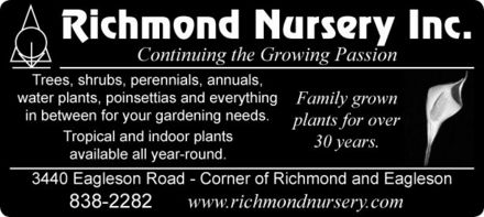 Richmond Nursery Inc (613-838-2282) - Promo